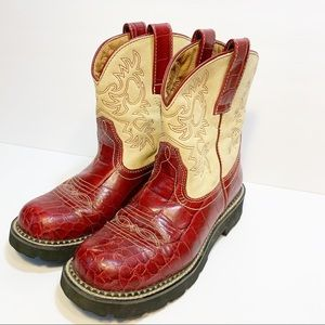 Ariat | Red And Tan Western Boots | 7